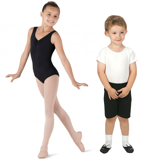 black leotard and boy